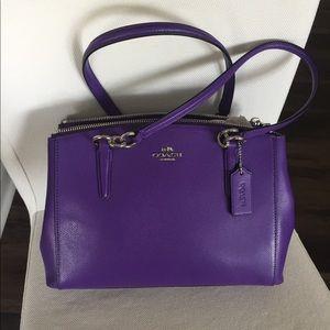 NWT Coach Small Christie Carryall satchel purple